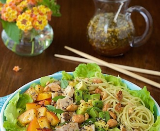 Asian Chicken and Coconut Curry Noodle Salad