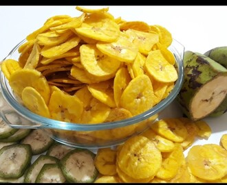 Yellow Banana Chips | Banana Wefers | How To Make Banana Chips | कुरकुरे केले के चिप्स