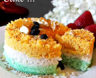 "Tricolor Rice Cake / Indian Flag Rice Cake / Rice Puttu / ""mujigaeddeok""- Rice Cake!!"