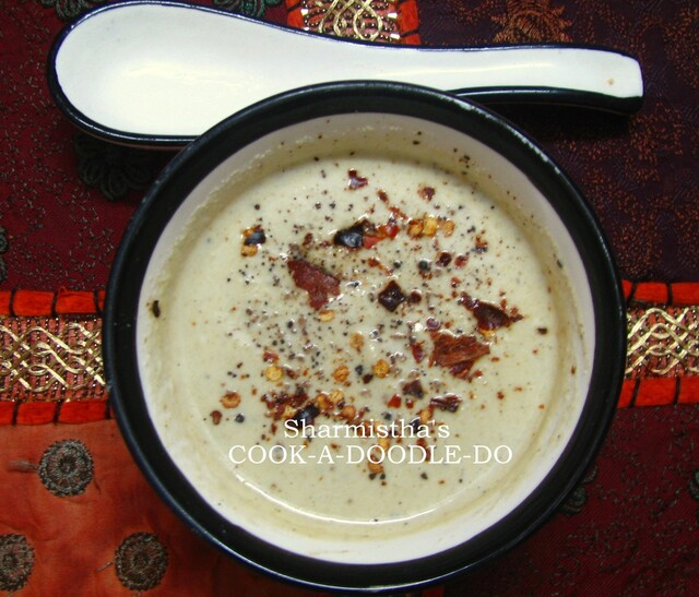 Cream of Broccoli Almond Soup
