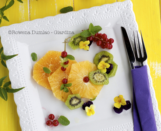 Fruit & Flower Salad With Limoncello
