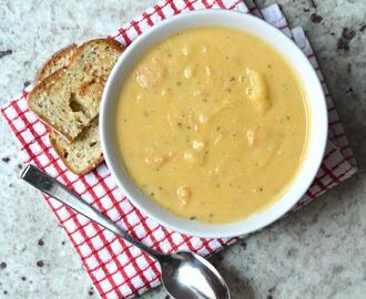 SWEET POTATO CASHEW SOUP (VEGAN)