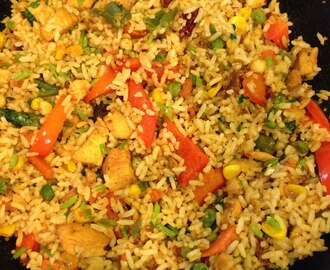Kung Pao Chicken Fried Rice