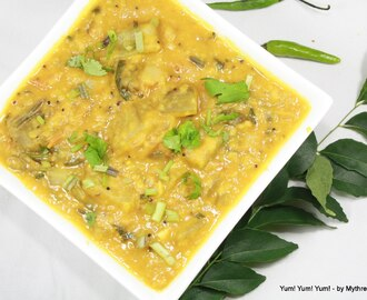 Keera Dosakaya Pappu ~ Cucumber cooked with Lentils