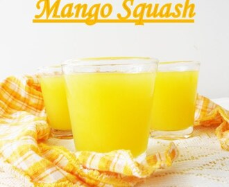 Homemade Mango Squash...step by step tutorial.