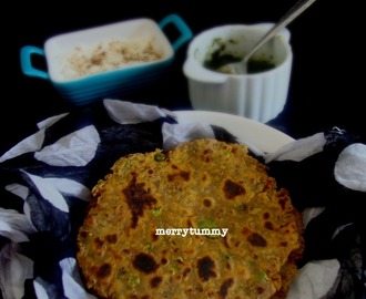 Peas Onion Paratha, Crispy And Spicy Indian Flat Bread