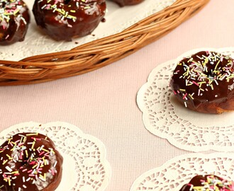 Tempting  Doughnuts With Chocolate Glaze, Guest Post By Vineetha