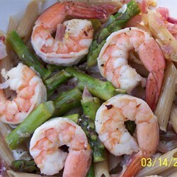 Pasta Main Dishes: Elegant Penne with Asparagus and Shrimp