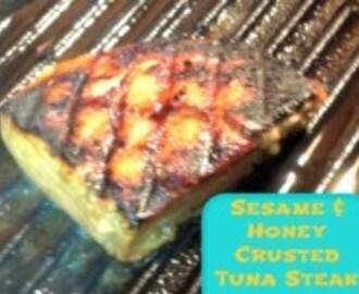 Sesame and Honey Crusted Tuna Steak