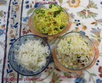Idiyappam - Rice Noodles -Sevai- nool puttu- string hoppers - how to make Idiyappam