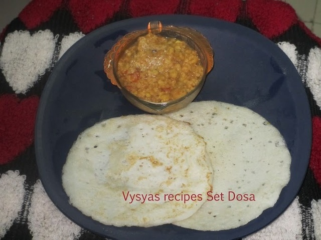 Set Dosa - Set Dosai - with vada kari- To prepare Soft Set Dosa's