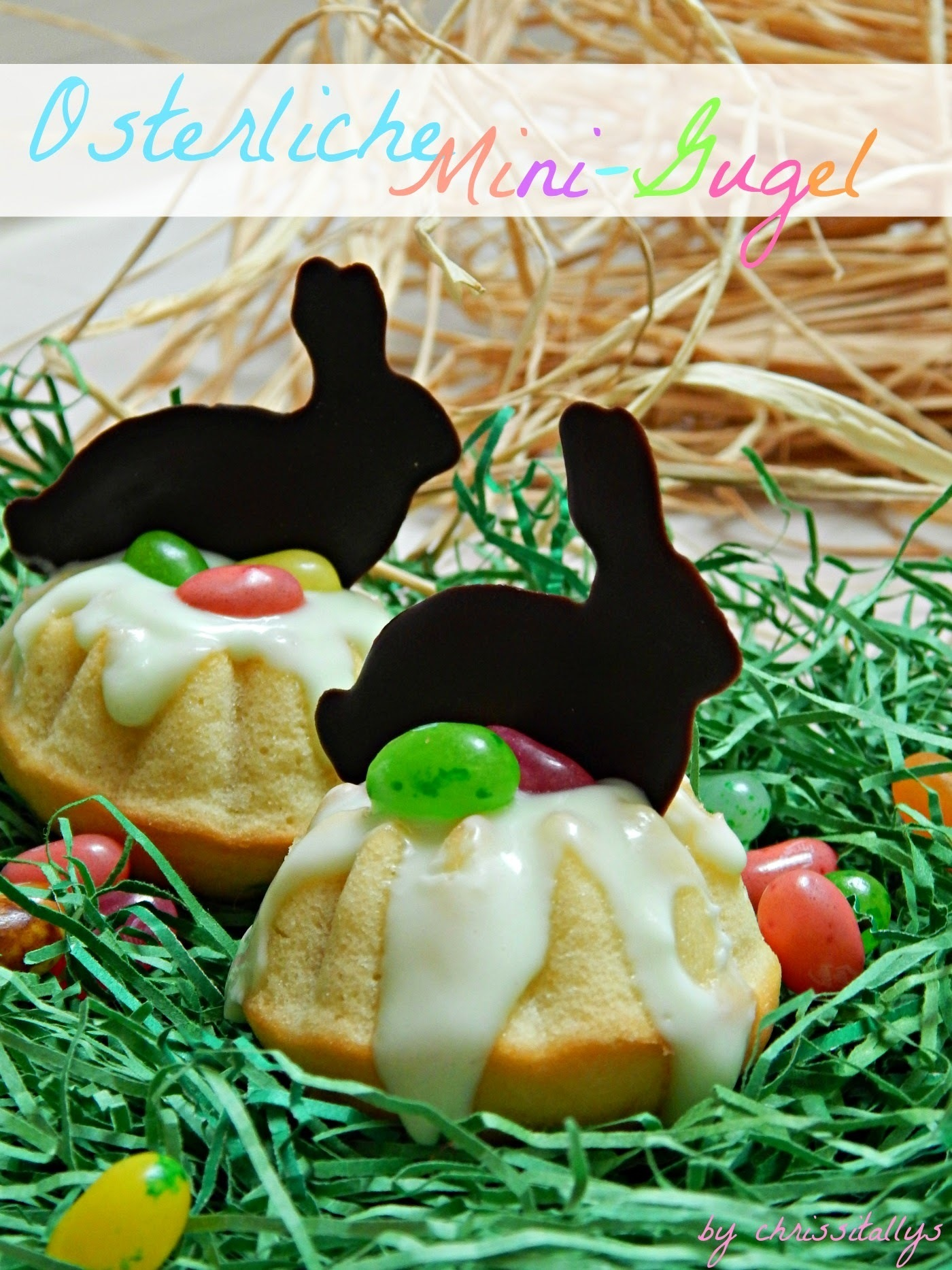 Easter mini ring cakes/ osterliche Mini-Gugel