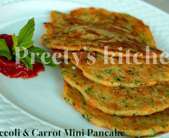 Broccoli & Carrot Mini Pancakes