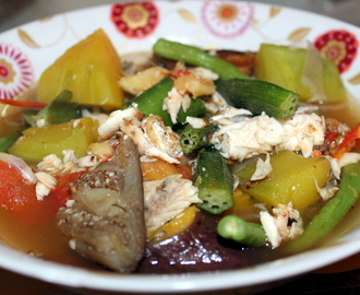 Bulanglang (Boiled Mixed Vegetables with Broiled Fish)