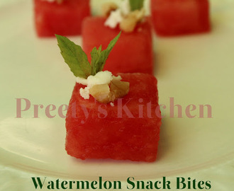 Watermelon Snack Bites / Easy Party Appetizer
