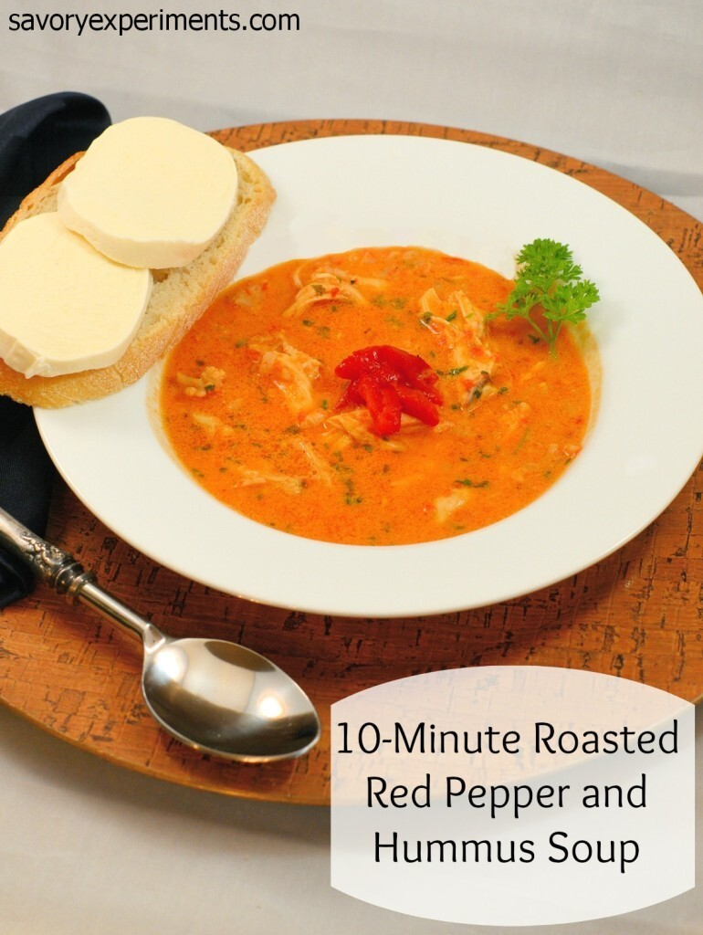 10-Minute Roasted Red Pepper and Hummus Soup- Throwback Thursday