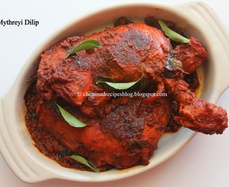 Chettinad Chicken Fry - Restaurant Style