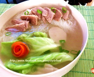 Beef and Sotanghon (vermicelli noodles)Soup