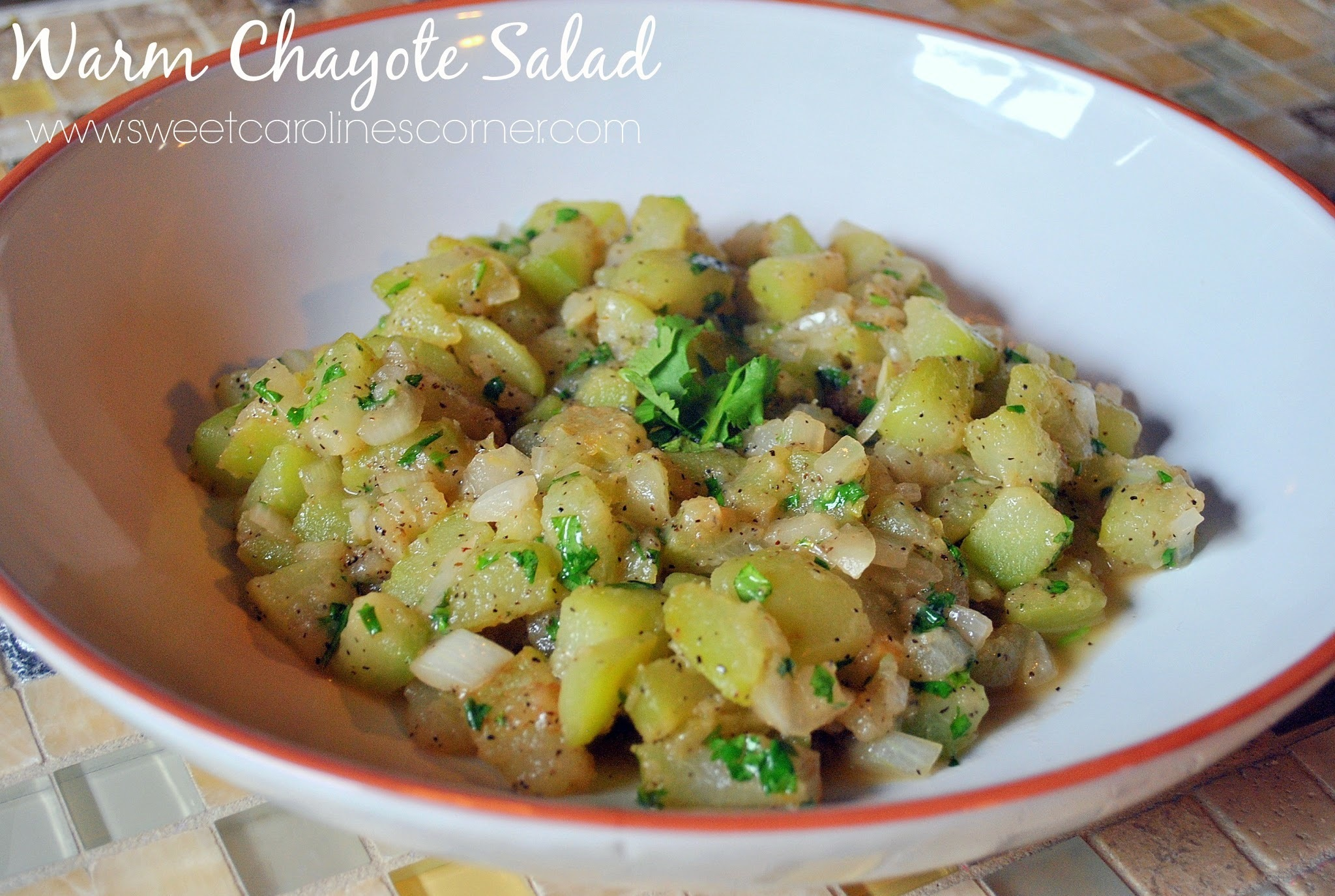 Warm Chayote Salad