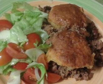 SAVOURY MINCE AND BEAN COBBLER