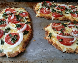Paleo Pizza with a CRISPY thin crust!  (yeah, I said crispy!)