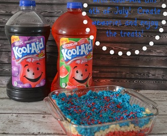 Kool-Aid Drink - Fourth Of July Rice Krispie Treats #Recipe