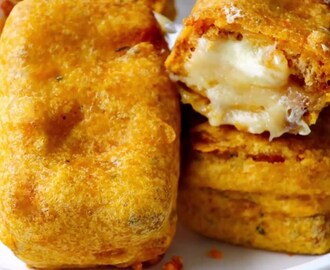Bread pakoda with a cheesy twist - tasty and tempting snack for a rainy day