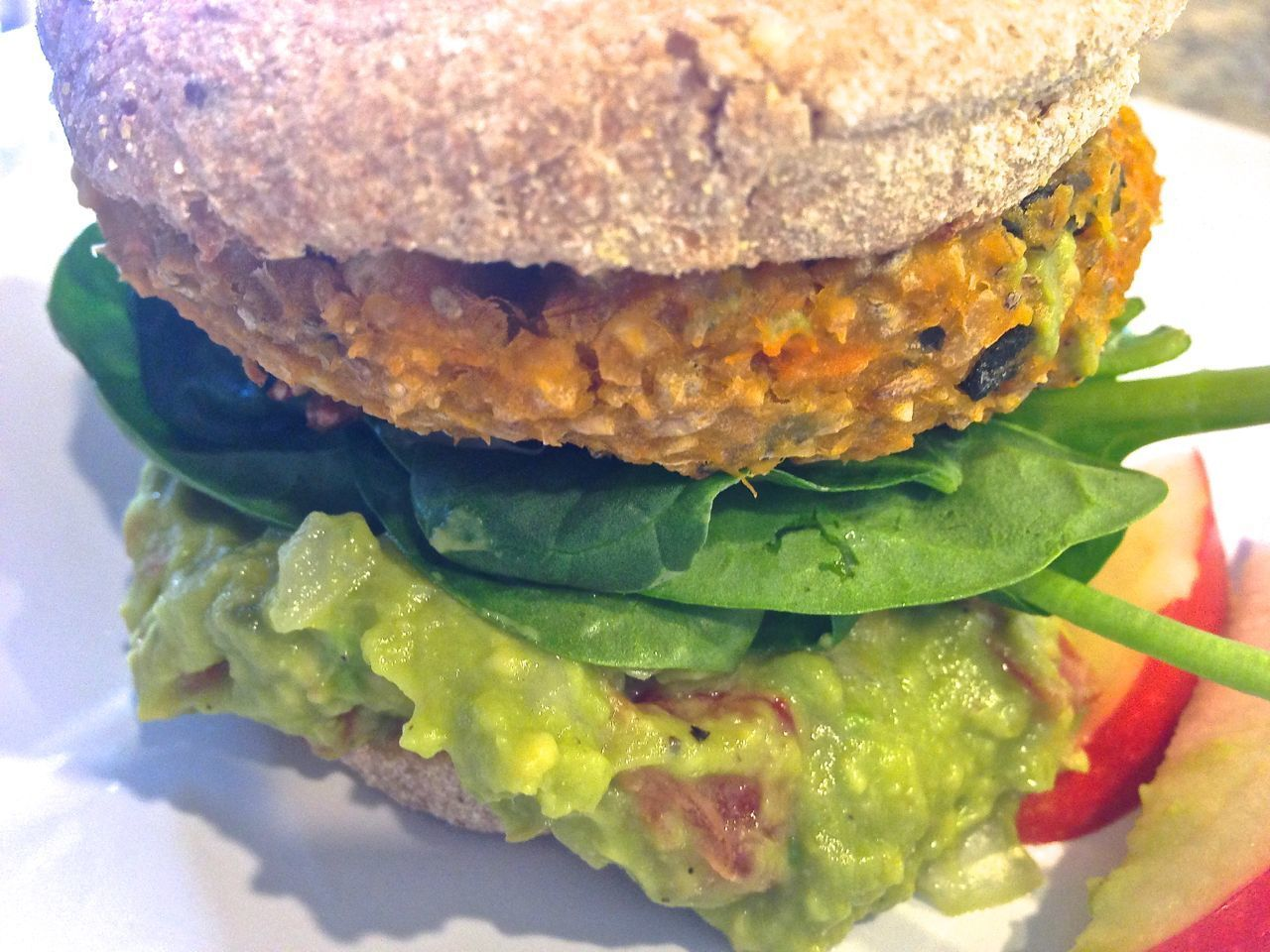 Veggie Burger with Guacamole