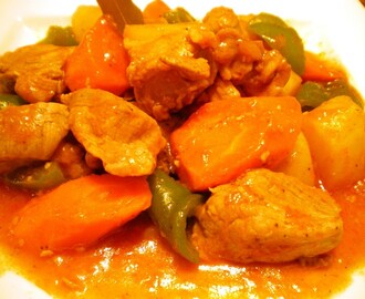 Pork Afritada (Braised Pork in Tomato Sauce)