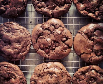 Flourless Chocolate Brownie Cookies (gluten free)