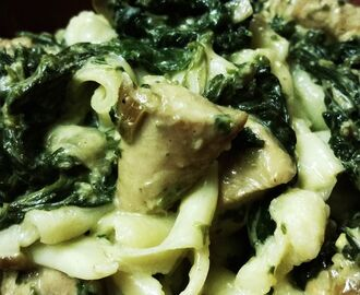 Creamy spinach pesto chicken