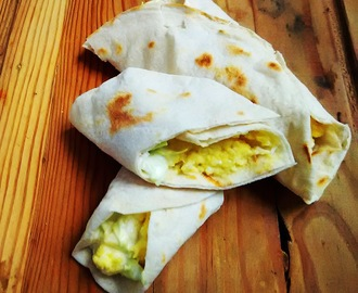 Egg and Coleslaw Wrap