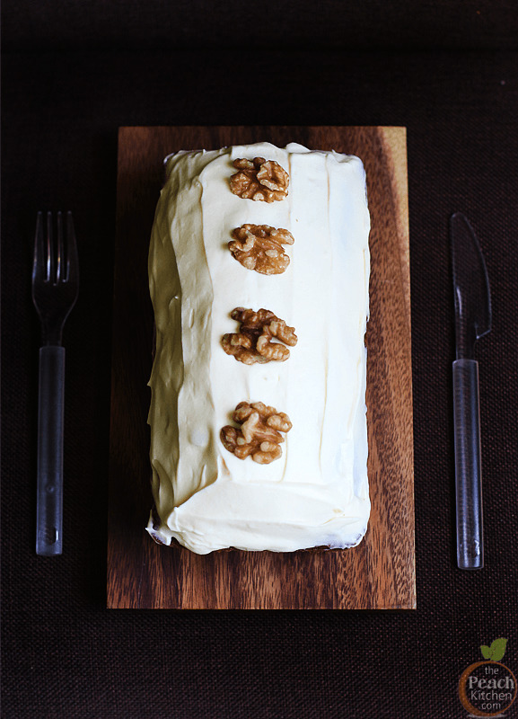 Carrot Loaf with Cream Cheese Frosting