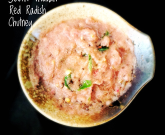 South Indian Fresh Radish Chutney