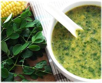 Greens Bloghop: Moringa and Corn Soup