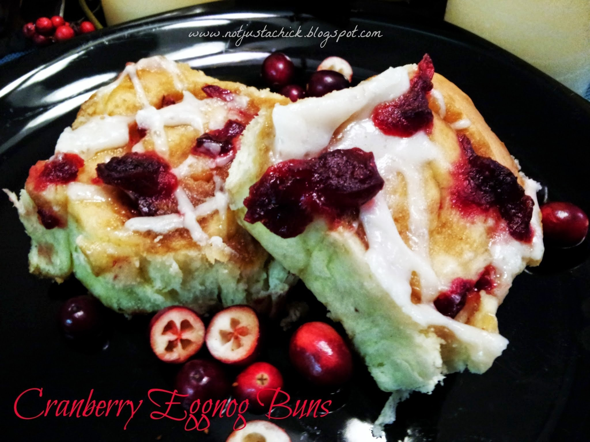 Year # 2.... New Beginnings and Fresh Cranberry Eggnog Cinnamon Buns