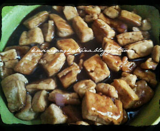 Pan Fried Tofu in Oyster Sauce