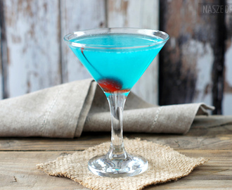 Blue Arrow – niebieski drink z ginem