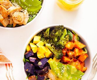Chicken Buddha Bowl with Spicy Mango Sauce