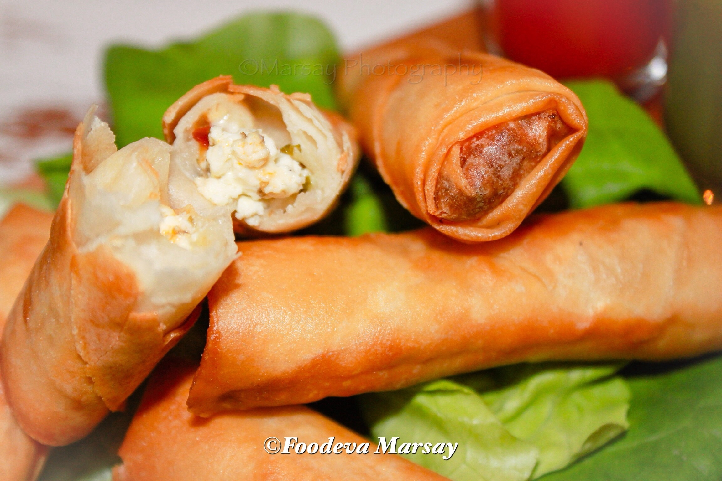 Arabian Styled Cheese Spring-Rolls