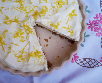 Exciting news and zesty no bake lemon tart