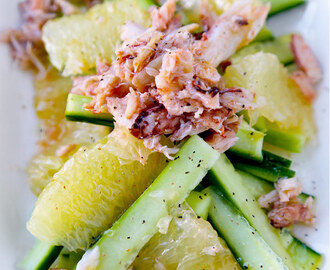 Crab Salad with Cucumber and Grapefruit