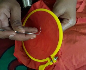 Basic stitch in Aari /maggam embroidery
