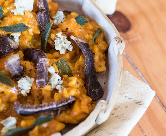 Roasted Butternut Risotto with Woodview Wagyu Biltong