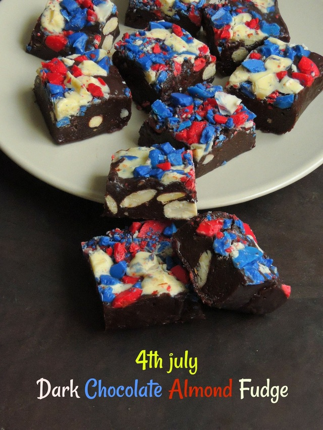 4th July Dark Chocolate Almond Fudge