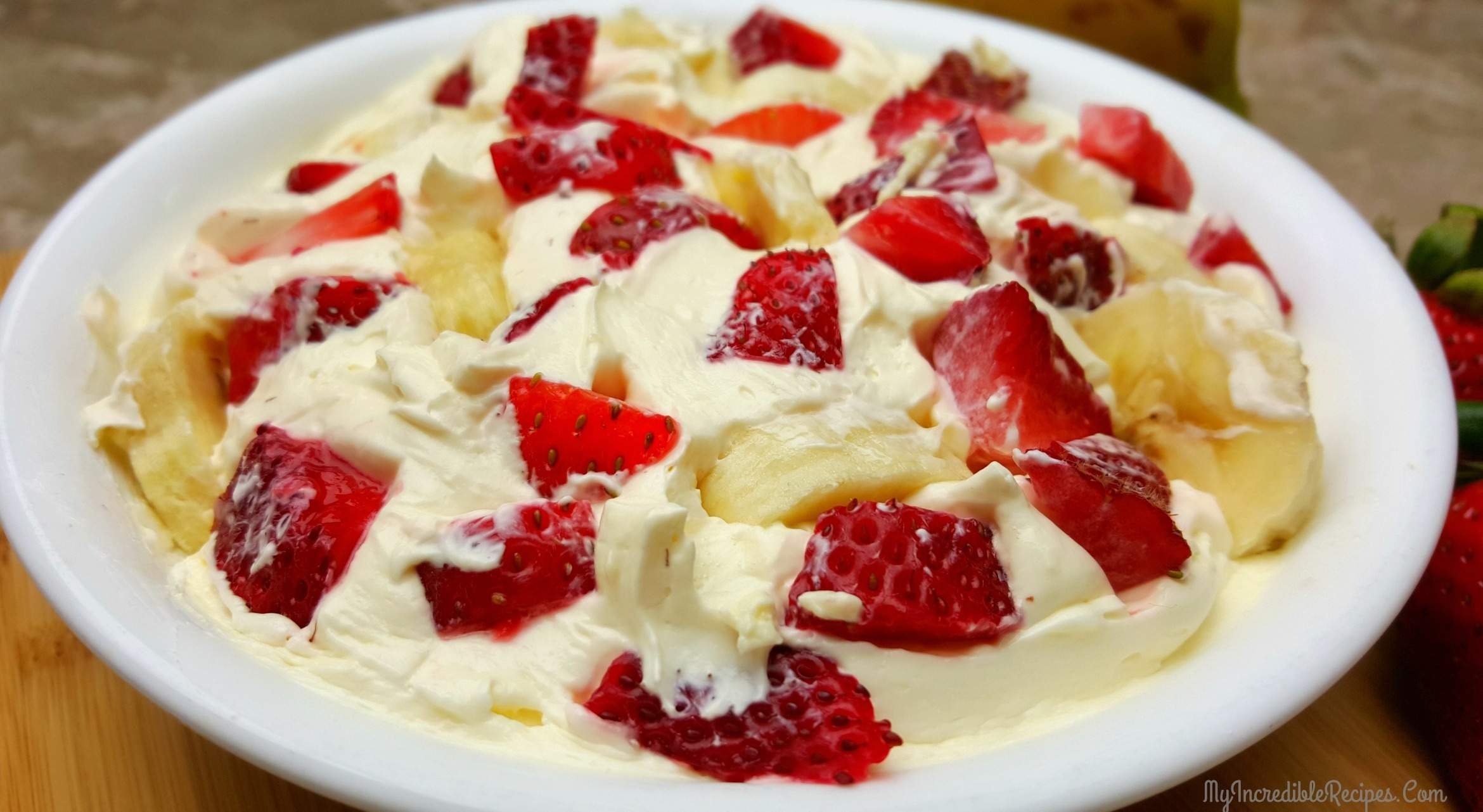 Strawberry Banana Cheesecake Salad!