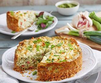 LANCEWOOD BABY MARROW AND PESTO SAVOURY CHEESECAKE