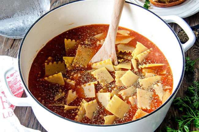 Easy One Pot Lasagna Soup