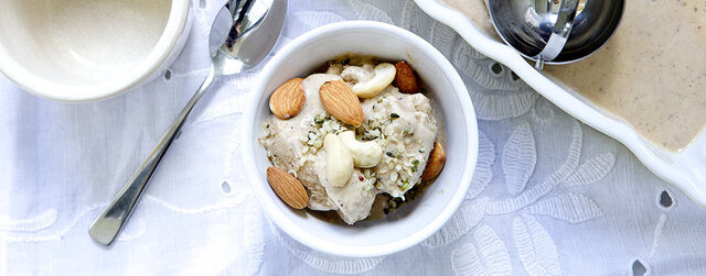 Nutty ice cream – Hemp, cashew & almond