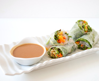 Fresh Homemade Spring Rolls with 2 Dipping Sauces